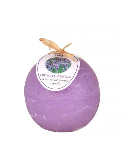 Díszgyertya gömb  80 Rusztikus illatos