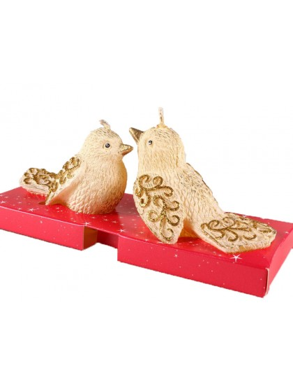 Díszgyertya Christmas Birds